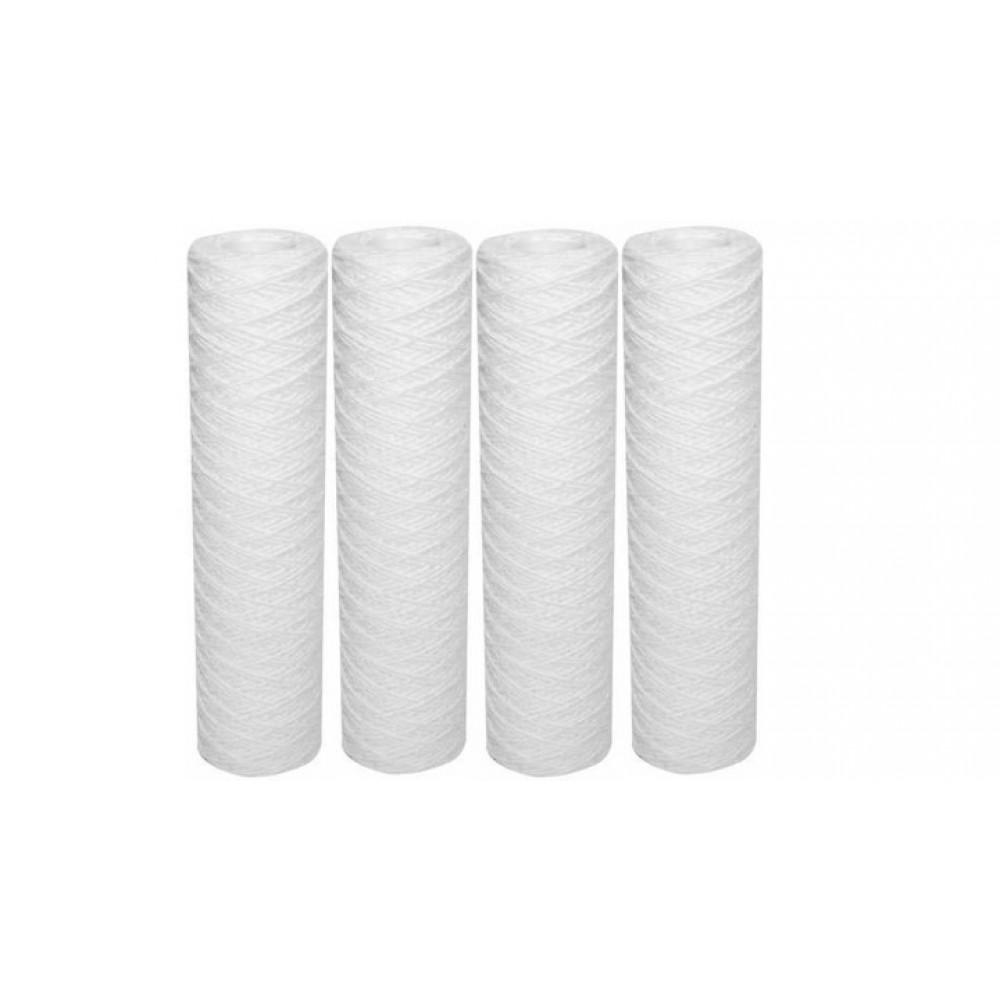 """Kit 4 cartouches filtration 9""""3/4 standard bobinées 100 µ"""