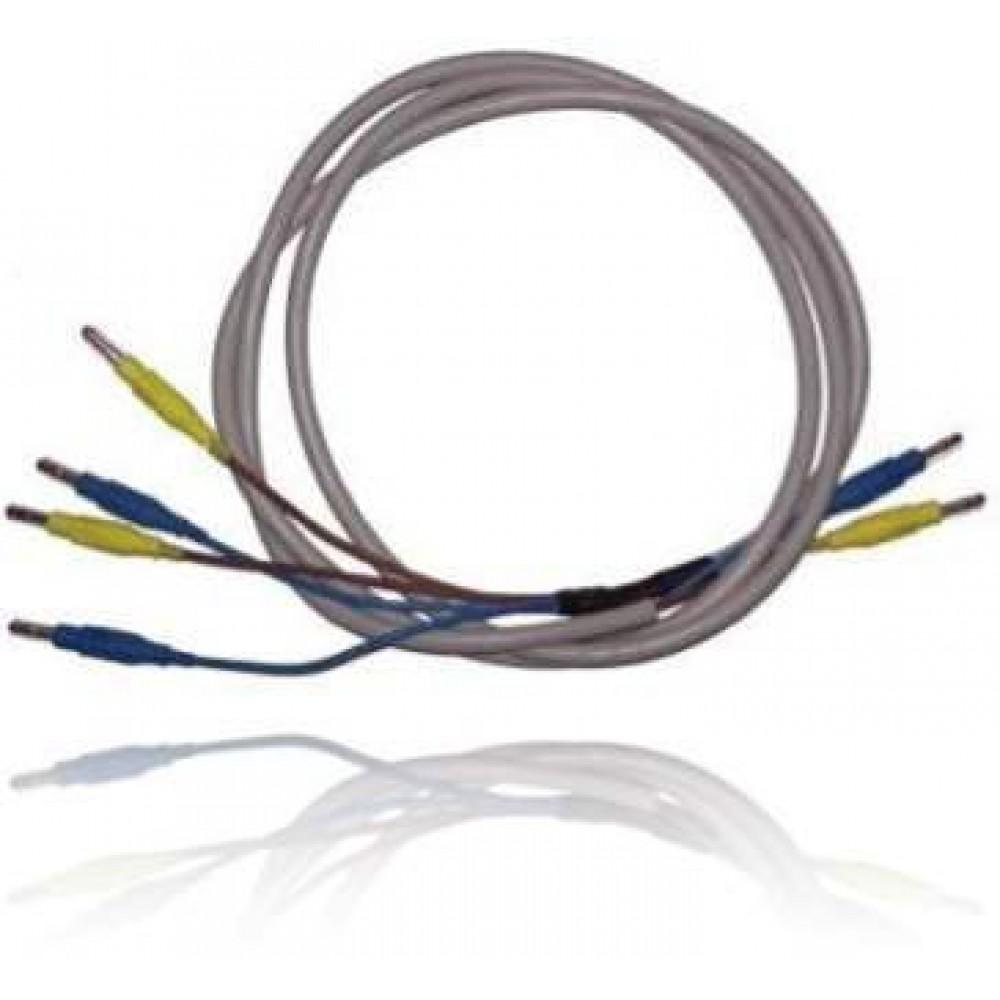 Câble pour 2 électrodes sel avec 4 fiches
